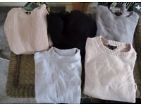 BUNDLE OF WOMAN JUMPERS SIZE M ( 5 ITEMS )