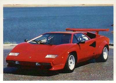 Lamborghini Countach, Italy, Dream Cars Trading Card, Automobile - Not Postcard