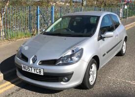 2008/57 RENAULT CLIO DYNAMIQUE TURBO 100BHP SILVER PETROL MANUAL 3DR IMMACULATE!