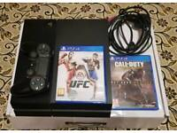 Must see..No Offers Sony PS4 Boxed Full working order with Original V2 controller and 2 games