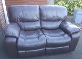 Leather 2 seater electric recliner £425 ONO. 18 months old cost £1200 new. Excellent condition