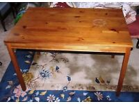 IDEA PINE TABLE & 4 HIGH BACK CHAIRS
