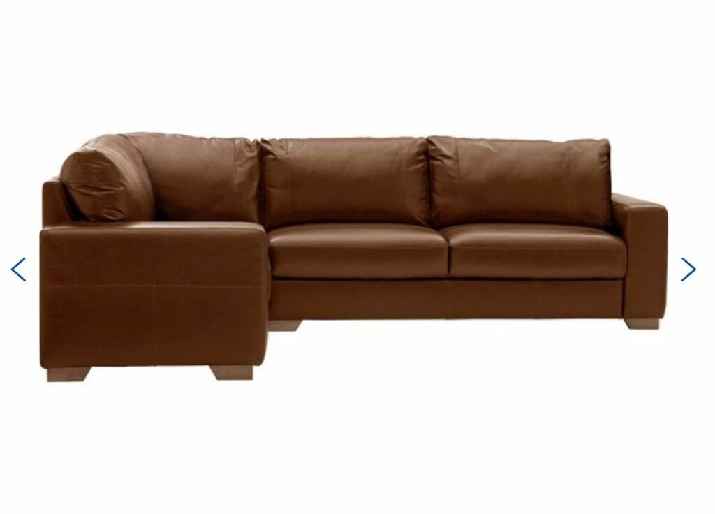 Wow Heart Of House At Argos Eton Corner Leather Sofa Right Hand Tan Can Deliver