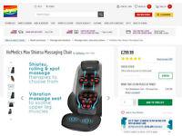 NEW HoMedics Shiatsu Max 2.0 Back and Shoulder Massager with Heat Massage Chair