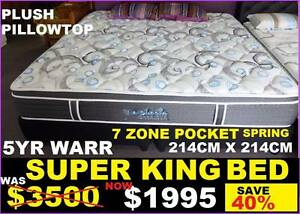 BRAND NEW MATTRESS Super King Pillow Top. 10 YR Warranty. 50% OFF Ipswich Region Preview