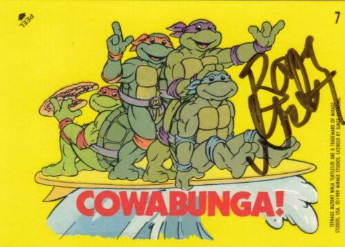 BARRY GORDON signed 1989 TOPPS (TEENAGE MUTANT NINJA TURTLES) card #7 W/COA