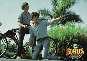 Paul-McCartney-and-Ringo-Starr-Riding-a-Bike-Bahamas-Beatles-Trading-Card