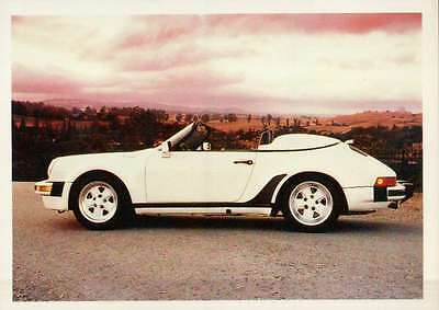 Porsche Speedster 1989, Dream Cars Trading Card, Automobile --- Not Postcard
