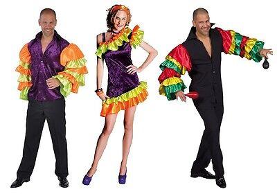 Flamenco Kostüm Hemd Kleid Herren Spanier Tanz Samba Salsa Rio Samba Spanier