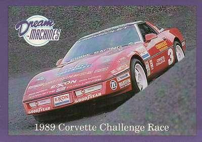 1989 Corvette Challenge Race, Dream Machines Cars, Trading Card - Not Postcard