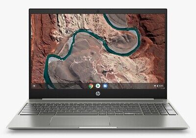 "HP 15-de0003na 15.6"" Chromebook Core i5 8GB RAM 128GB eMMC Silver White C Grade"