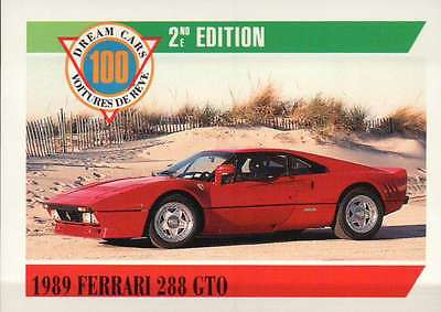 1989 Ferrari 288 GTO, Italy, Dream Cars Trading Card, Automobile -- Not Postcard