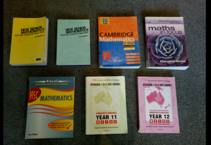 HSC and Preliminary English and Math Textbooks