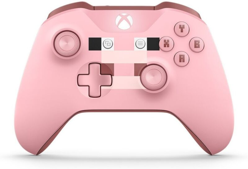 Microsoft Xbox Wireless Controller Minecraft Pig WL3-00052
