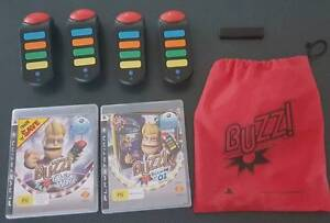 PS3 Buzz controllers and 2 games Old Beach Brighton Area Preview