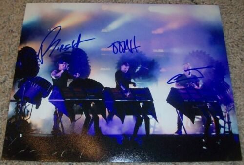 THE GLITCH MOB BAND SIGNED AUTOGRAPH 8x10 PHOTO B w/EXACT PROOF BY ALL 3