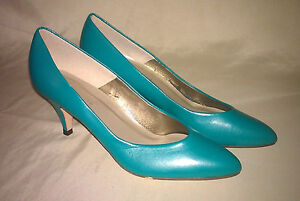 VTG-Womens-High-Heels-Jade-Turquoise-size-7-Connie-Commuters