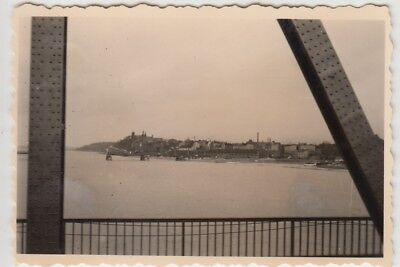 (F29088) Orig. Foto Graudenz, Grudzi?dz, Blick von der Brücke 1941
