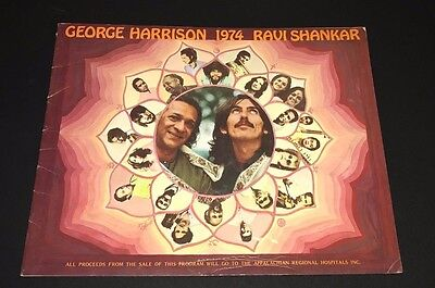 George Harrison Ravi Shankar  1974 World Tour Concert Program