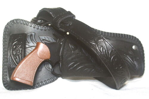 3 pieces Cap Gun Revolver with Black Holster and Belt 8-Shot BRAND NEW 70000.5