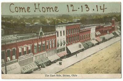 Bryan Ohio OH ~ East Side of Town Square c.1914