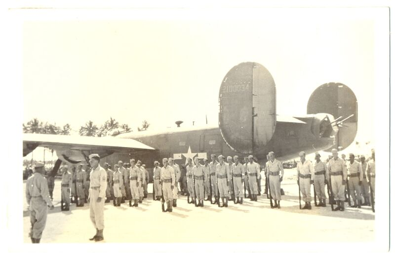 US Army Bomber B-24 Photo Postcard 1944