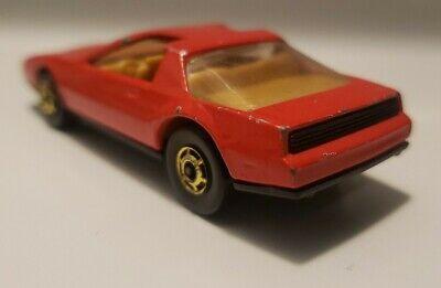 Hot Wheels Red 80's Firebird Hot Ones Trans Am 1983 Hong Kong W/GHO's Pontiac