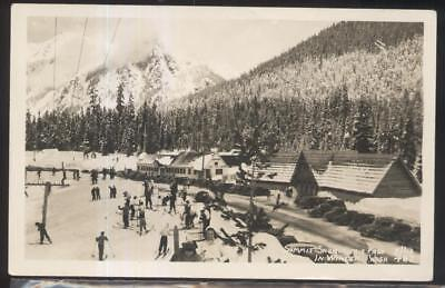 Rp Postcard Snoqualmie Pass Washington Wa  Local Area Ski Lodge Inn 1930S