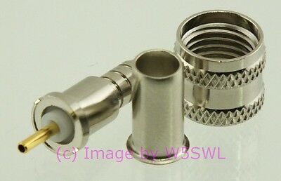 Rg58 Connector (Coax Connector Mini-Uhf (MUHF) Male Crimp RG-58 2-Pack - by W5SWL)