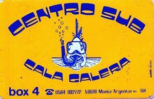 ADESIVO-VINTAGE-1984-STICKER-CENTRO-SUB-CALA-GALERA-box-4-MONTE-ARGENTARIO