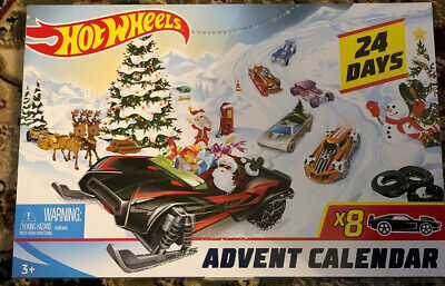 2019 Hot Wheels Advent Calendar, Christmas Holiday Cars Accessories