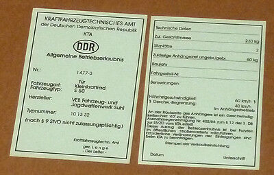 Betriebserlaubnis,Allgemeine Betriebserlaubnis,ABE,KTA,S50,Simson,Moped