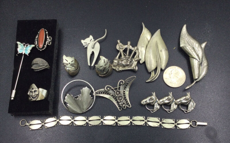 BEAU STERLING JEWELRY LOT - LARGE (S433)