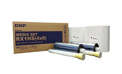 """DNP DS-RX1 HS 4""""x6"""" Paper & Ribbon Kit, 700 Prints per roll / 2 Rolls"""