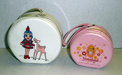Vintage Walt Disney Prod. Diseyland TINKERBELL PINK & WHITE CARRY CASE *Unused