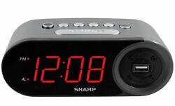 Sharp Electric Digital Alarm Clock With 2 AMP High-Speed USB Charging LED Displa