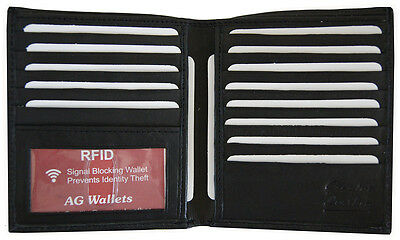 RFID Signal Blocking Cow Leather European Hipster Credit