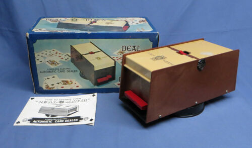 Vintage Automatic Waco Card Dealer Deal-O-Matic Cordless Electric w/Original Box