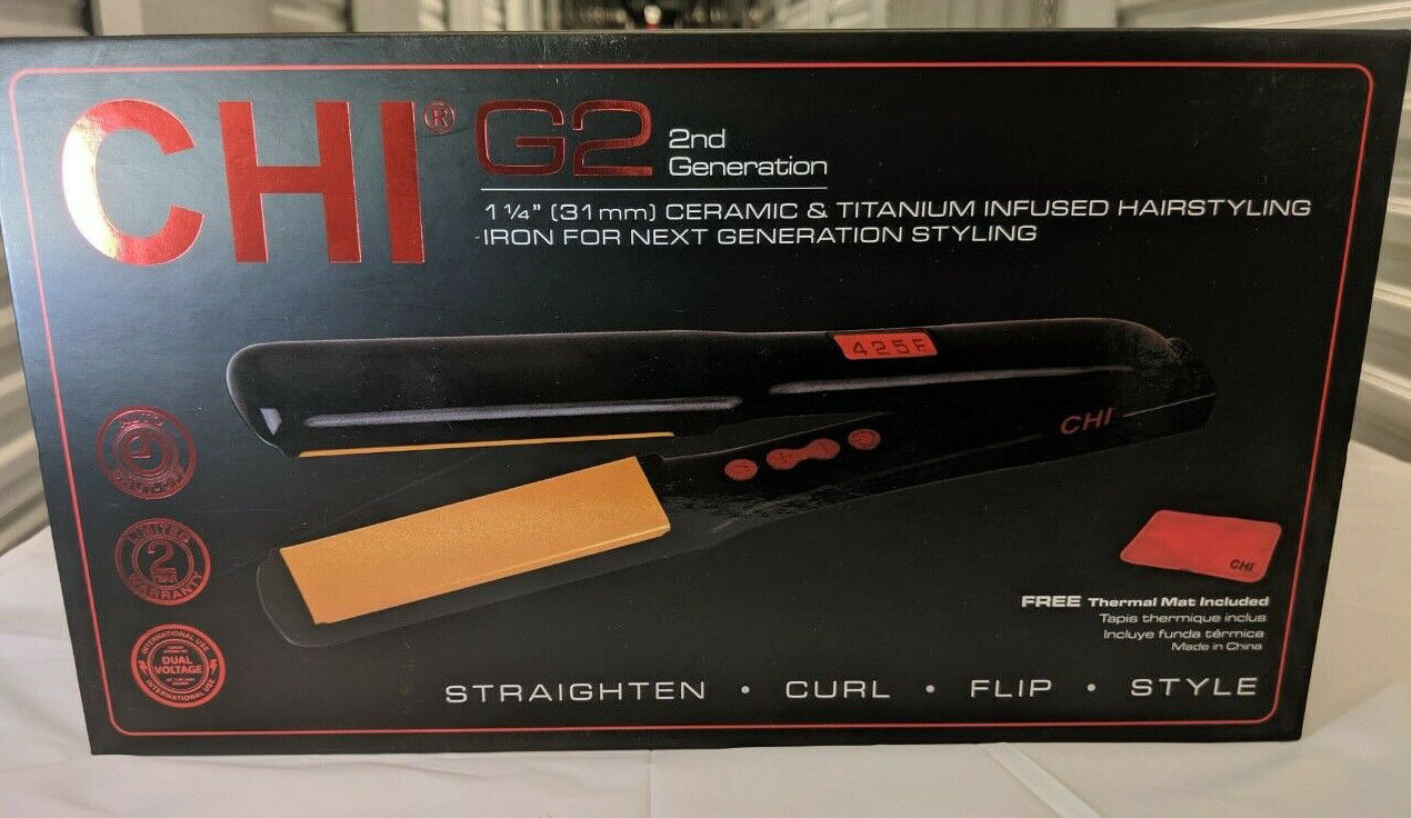 CHI G2 Ceramic Hairstyling Iron, Black, 1 ea