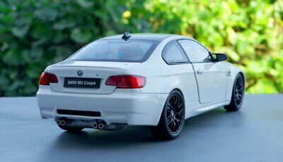 Kyosho BMW E92 M3 Coupe 1/18 Scale Diecast Car Model Toy - WHITE Bmw M3 Coupe Car