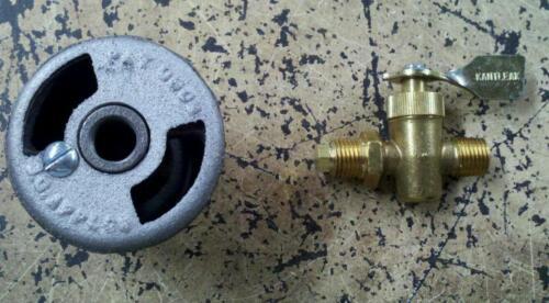 "Pig Hog Cooker Burner Air Mixer Flat Face 3/4 "" I.D.  Pipe valve &  orifice"