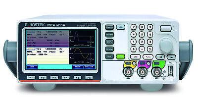 Gw Instek Mfg-2110 Dual Channel Arbitrary Function Generator 10mhz Afg Pulse Gen