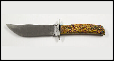 Vintage RARE REMINGTON DUPONT RH-4 hunting knife 1933-1940 stag handle NICE LOOK