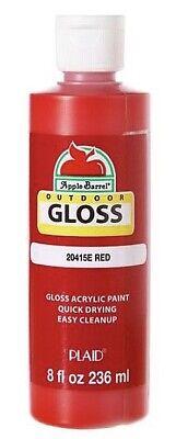 Apple Barrel Acrylic Paint Gloss Red 8 Ounce New! *SALE*