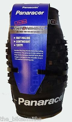 """Panaracer Fat B Nimble 26""""x 4.0 Folding Bead 120tpi 4"""" Fat Bike Fast Tire"""