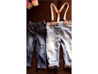 Girls jeans bundle. Toddler jeans. 12-18 months & 1-1/2 years.
