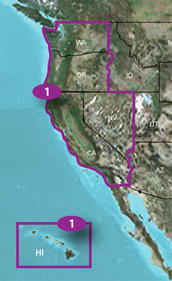 Garmin TOPO US 24K West &North GPS Map 010-C1129-00, incl. WA OR CA NV HI Garmin Topo 24k
