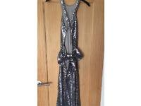Gunpowder grey size 8 formal dress