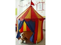 As new children's IKEA circus themed play tent
