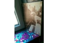 FOR SALE: a wooden plaque/photo of Marilyn Monroe
